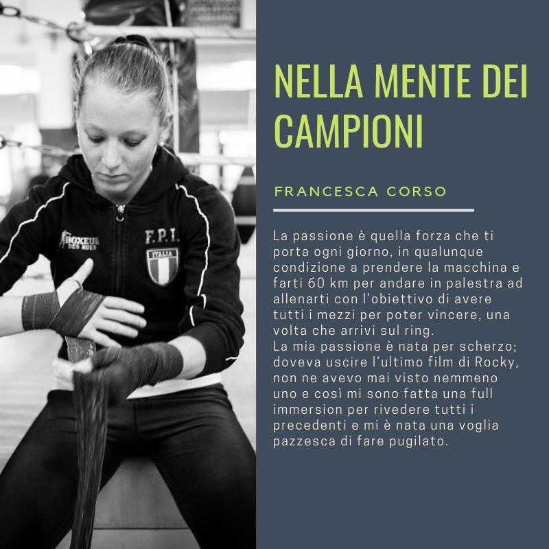 Francesca Corso nella mente dei Campioni